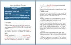 commercial lease contract template u2013 contractguru