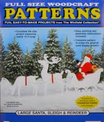 large santa sleigh and reindeer wood craft pattern