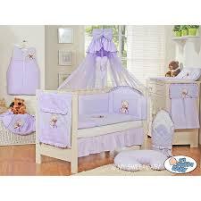 chambre sauthon teddy parure de lit bébé complète ours teddy violet chambre bébé