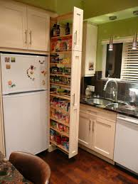 Pull Out Drawers For Kitchen Cabinets Kitchen Cabinets The Narrow Cabinet Beside The Fridge Pulls Out