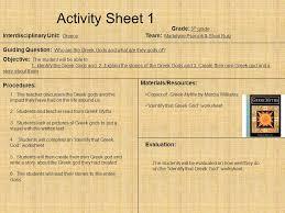 unit 6 resources themes in american stories activity sheet 1 grade 5 th grade interdisciplinary unit greece
