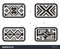 set mexican ornamental designs stock vector 67991662