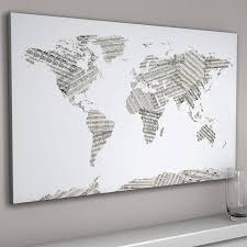 Map Of The World Black And White by Sheet Music World Map Art Print By Artpause Notonthehighstreet Com