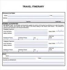 travel itinerary template 5 download documents in pdf trip