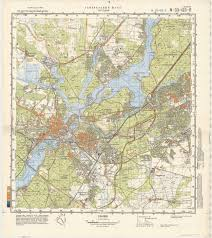 Seattle Elevation Map by 1985 Soviet Military Topographic Map Of Potsdam Germany City