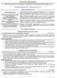 Senior Management Resume Templates Information Technology Resume Examples
