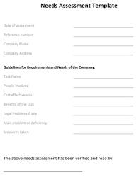 assessment templates needs assessment template 8ws templates u0026 forms