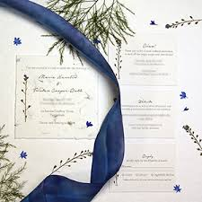 Wedding Programs With Ribbon Handmade Paper Wedding Invitations Recycled Custom Seed Paper
