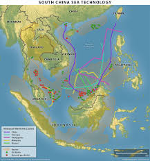 China Sea Map by Hydrocarbon Exploration And Politics In The South China Sea