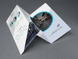 creative trifold brochure template psd 브로슈어 pinterest