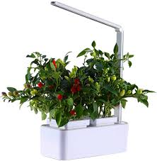smart hydroponics indoor herb garden kit mini plant grow led light