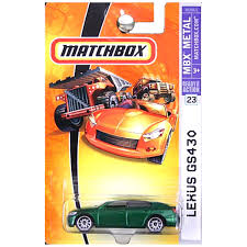 lexus visa pursuits amazon com 2007 matchbox 23 lexus gs430 green 55th anniversary