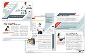6 best images of newsletter fold templates office newsletter