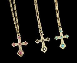cross chain necklace gold images Beautiful diamond gold plated crystal rhinestone holy cross chain jpg