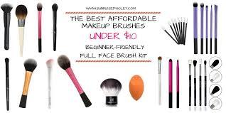 affordable makeup the best affordable makeup brushes 10 sun kissed violet