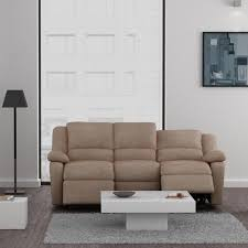 canap relax cdiscount relax canapé 3 places relaxation tissu beige achat vente canapé
