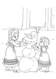 print coloring image christmas yard elsa