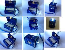 dr who wedding ring tardis wedding ring box with led light handmade tardis engagement