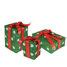 buy outdoor lighted gift boxes from bed bath beyond