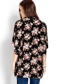 forever 21 free spirit floral kimono in pink lyst