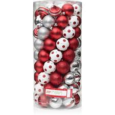 time 60mm shatterproof ornaments set