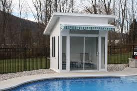 Pool Houses And Cabanas Three Season Cabana Deluxe Screen Cabana Pool House Cabana
