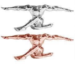 Ebay Fulda Esszimmer Design Skulptur Athlet Fitness Deko Figur Silber Spiegel