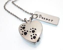 Personalized Memorial Necklace Pet Urn Necklace Etsy