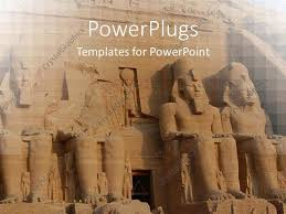 powerpoint template abu simbel colossus egypt ancient statues