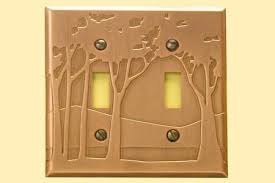 craftsman style light switches landscape double toggle copper switchplate copper switchplates
