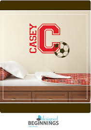 soccer ball decal name wall decals soccer decor personalized soccer bedroom wall decor for boys room