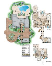 beach mansion house plan 3 story 20 000 sq ft outdoor living with