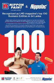 nippon paint lanka recognized as lmd magazine u0027s 100 business