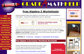 top 6 places for algebra ii worksheets and algebra ii homework
