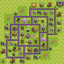 layout coc town hall level 7 town hall 7 base layout 3 air defense update clash of clans