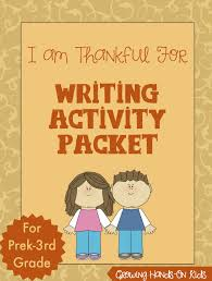 i am thankful for writing activity printable writing activities