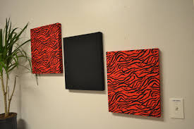 zebra home decor and red color home designs ideas
