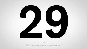 how to pronounce 29 youtube
