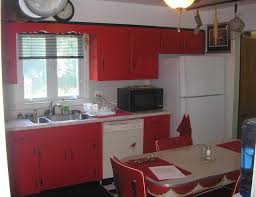 50s Kitchen Kitchen Design Retro 50s Kitchen Decor With Pink Refrigerator And