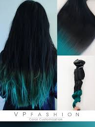 teal hair extensions blue ombre human hair extensions for hair cs028 vpfashion