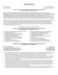 Operations Manager Resume Template Click Here To Download This Casino Manager Resume Template Http