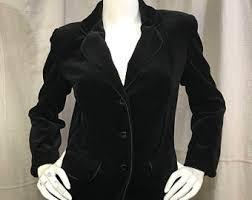 black velvet jacket etsy