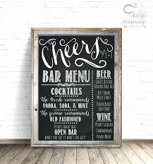 wedding bar menu template chalkboard bar menu americachinasociety info