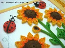 azlina abdul quilled sunflower birthday card