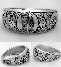 nerdy wedding rings 11 geeky wedding engagement rings tardis ring and tardis