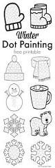 winter dot painting free printable the resourceful mama