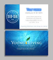 Buy Business Card Water Young Living Business Card Essential By Customoilydesigns