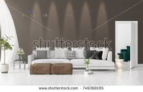 livingroom in stylish living room design grey striped stock photo 529715422