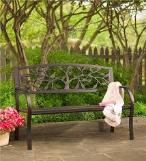 Steel Garden Bench Tree Of Life Metal Garden Bench Outdoor Benches And Chairs
