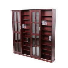 Wooden Cabinet With Glass Doors Dvd Storage Cabinet With Glass Doors Home Furniture Decoration
